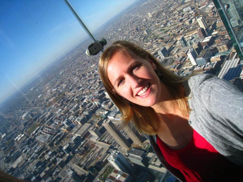Birthday adventures – standing in a glass box above the city. Behold, the Willis Tower Sky Deck.