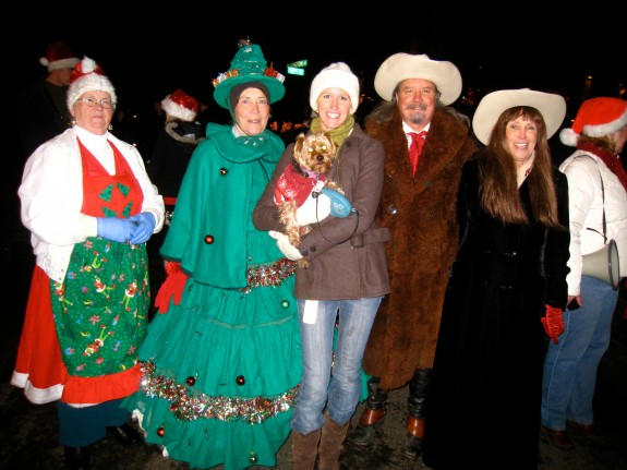 From left to right: Mrs. Claus, O Christmas Tree, Santa's Little Helper & Me, Buffalo Bill, Annie Oakley.