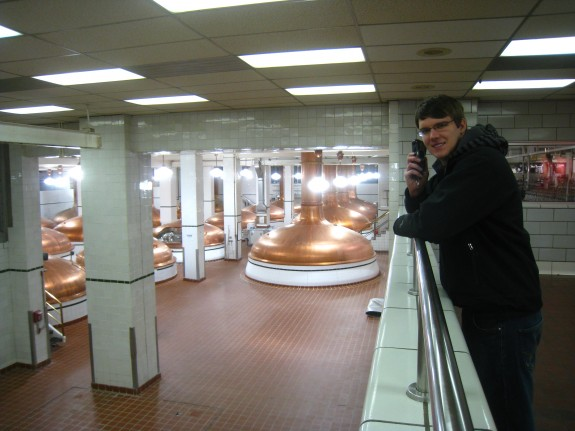 The copper beer vats (I can't remember the techincal term)