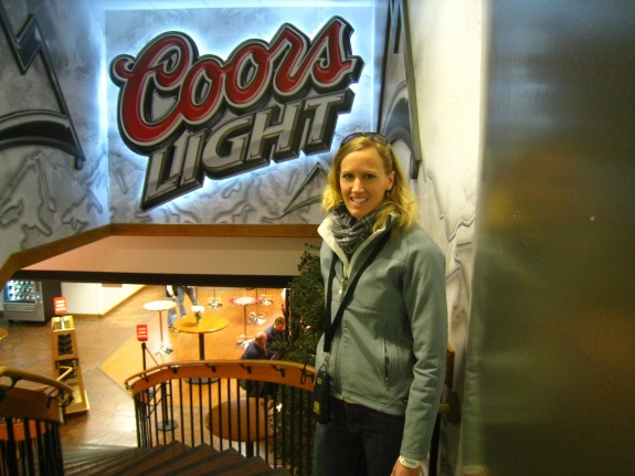 Going down to the Coors lounge.
