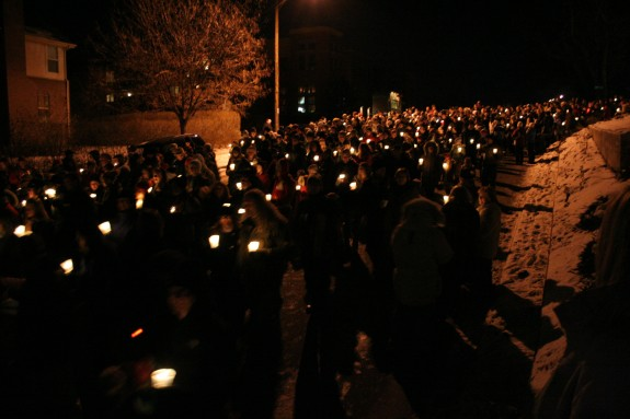 The start of the Candlelight Walk –pretty!