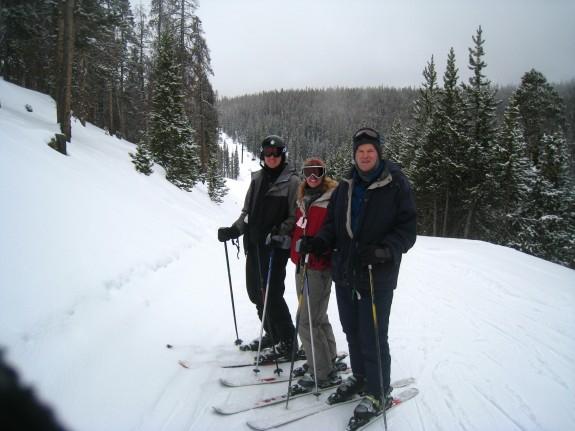 Ski break photo op.