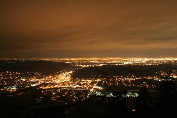 The city lights of Golden.